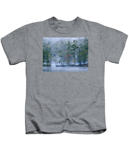 Emerald Lake In Fog Emerald Lake State Kids T-Shirt