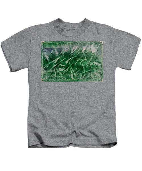 Encaustic Green Foliage With Some Blue Kids T-Shirt