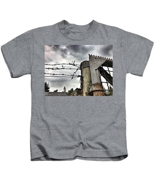 Entrance To The Old Ammunition Depot Of The Belgian Army Kids T-Shirt