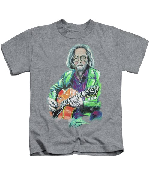 Eric Clapton Kids T-Shirt by Melanie D
