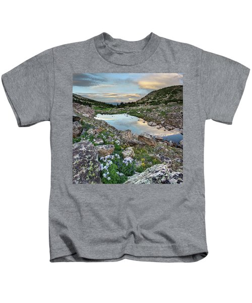 Evening In The Rockies Kids T-Shirt