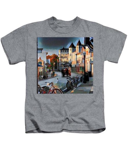 Evening On Mackinac Island Kids T-Shirt