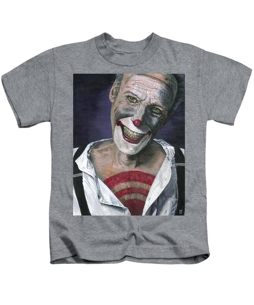 Kids T-Shirt featuring the painting Exposed by Matthew Mezo