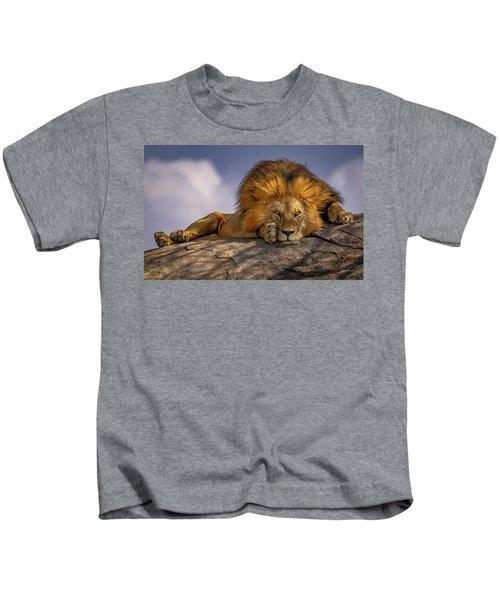 Eye Contact On The Serengeti Kids T-Shirt