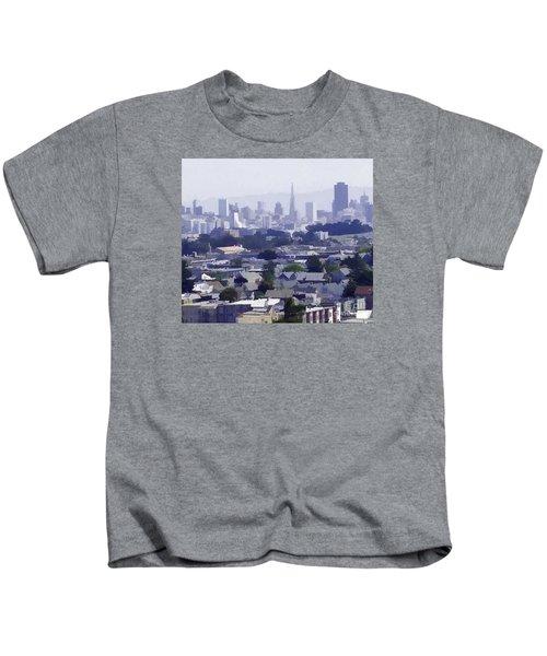 Looking East Toward San Francisco Kids T-Shirt