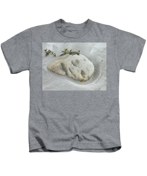 Face In The Sand At Baird Glacier Outwash Kids T-Shirt