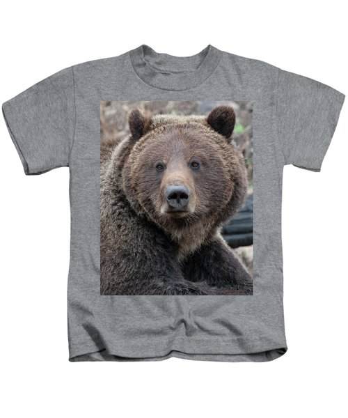 Face Of The Grizzly Kids T-Shirt