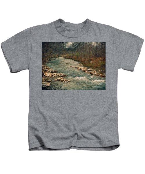 Fall Along The River Kids T-Shirt