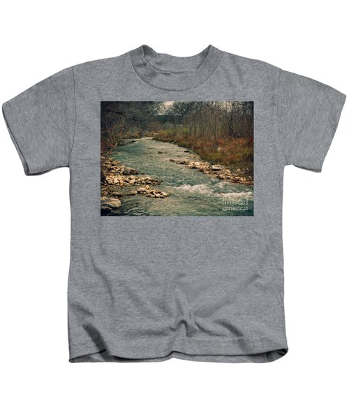 Fall Along The River Kids T-Shirt
