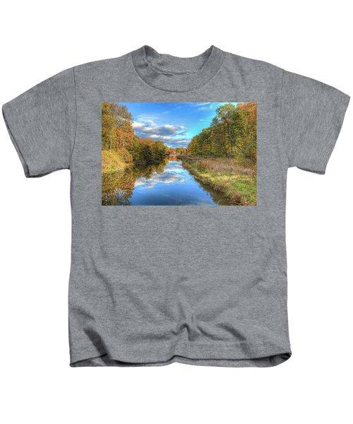 Fall At Brunswick Lake  Kids T-Shirt