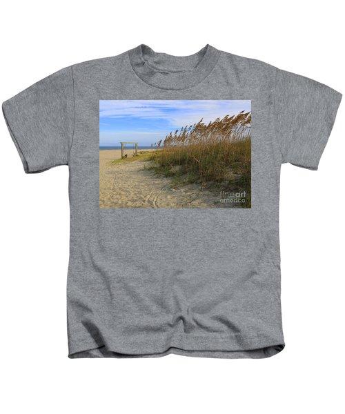 Fall Day On Tybee Island Kids T-Shirt