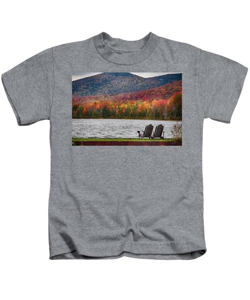 Fall Foliage At Noyes Pond Kids T-Shirt