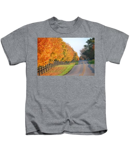 Fall In Horse Farm Country Kids T-Shirt