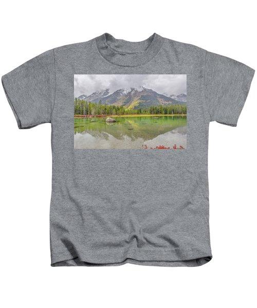 Fall Morning Along String Lake Kids T-Shirt