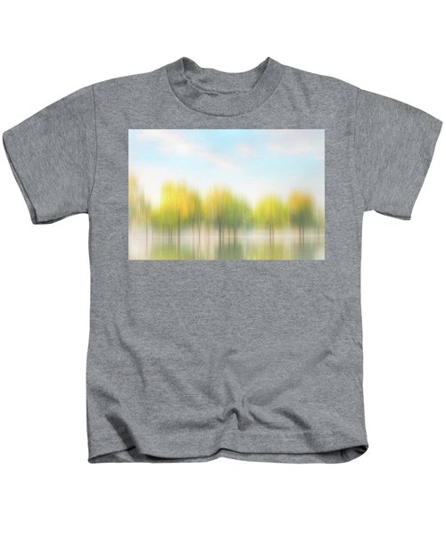Fall Trees On Flooded Lake Kids T-Shirt