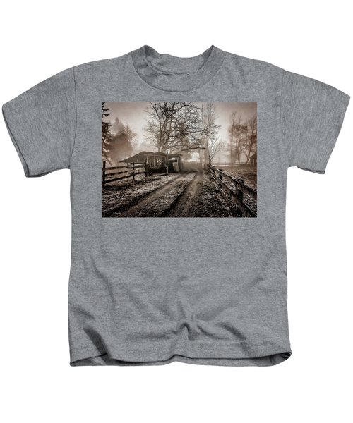 Farm Road Late Autumnl. Kids T-Shirt