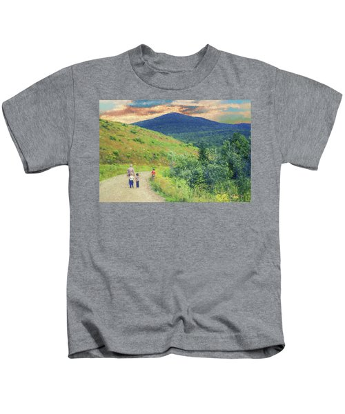 Father And Children Walking Together Kids T-Shirt