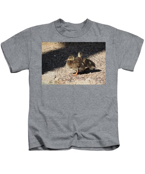 Fuzzy Feathered Friends Kids T-Shirt