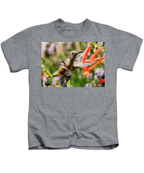 Female Broadtail Humingbird Kids T-Shirt