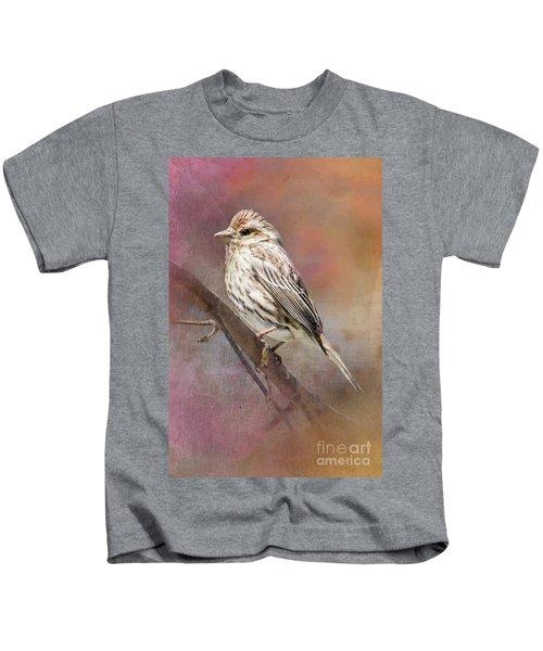 Female Sparrow On Branch Ginkelmier Inspired Kids T-Shirt