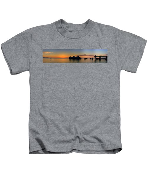 Ferry Boat Arrives To Mukilteo Ferry Terminal Kids T-Shirt