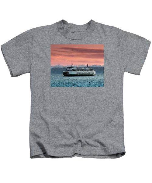 Ferry Cathlamet At Dawn.1 Kids T-Shirt