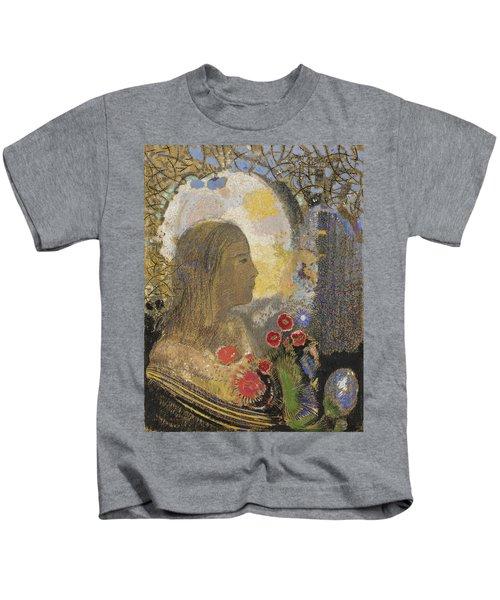 Fertility. Woman In Flowers Kids T-Shirt