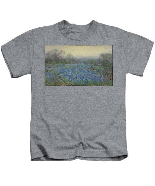 Field Of Bluebonnets Kids T-Shirt