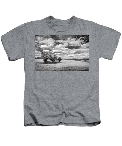 Fields And Clouds Kids T-Shirt