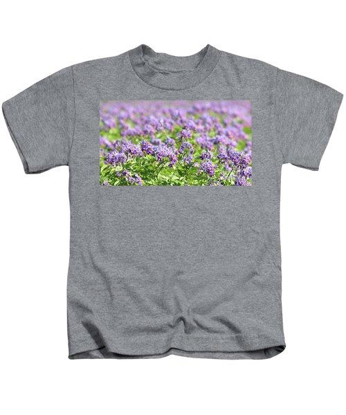 Fields Of Purple Kids T-Shirt