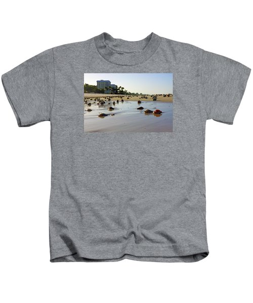 Fighting Conchs At Lowdermilk Park Beach In Naples, Fl  Kids T-Shirt