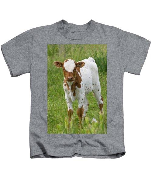 Fine Looking Longhorn Calf Kids T-Shirt