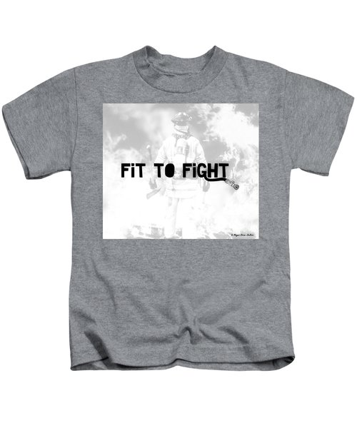 Fireman In White Kids T-Shirt