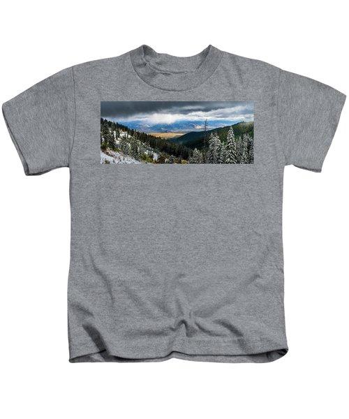 First Snow, Jackson From Teton Pass Kids T-Shirt