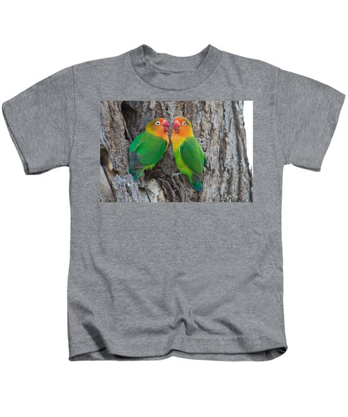 Fischers Lovebird Agapornis Fischeri Kids T-Shirt by Panoramic Images