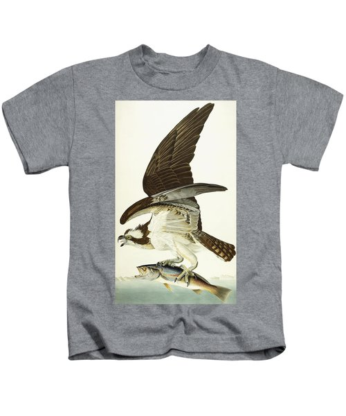 Fish Hawk Kids T-Shirt by John James Audubon