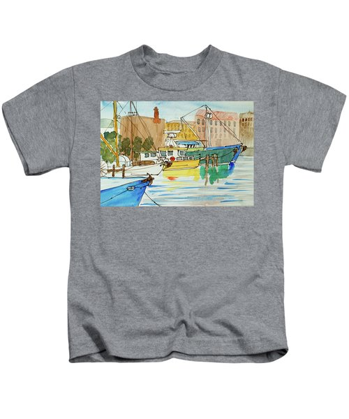 Fishing Boats In Hobart's Victoria Dock Kids T-Shirt