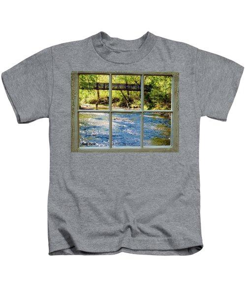 Fishing Window Kids T-Shirt