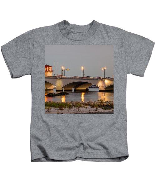Flagler Bridge In Lights Iv Kids T-Shirt