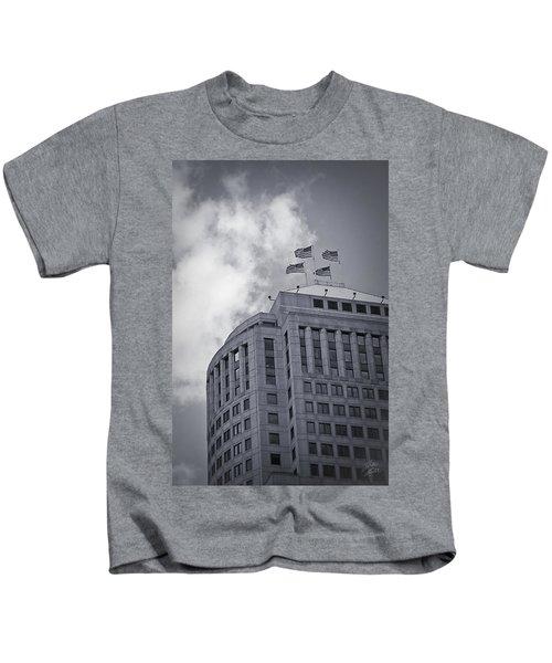 Flags Over Detroit Kids T-Shirt
