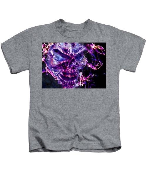 Flaming Skull Kids T-Shirt