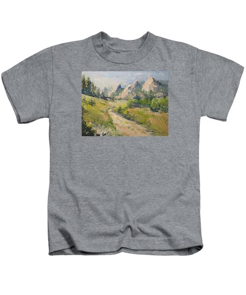 Flatirons In The Rockies Kids T-Shirt