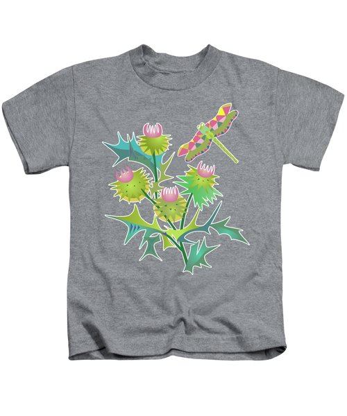 Floral Pattern With Thistle Kids T-Shirt