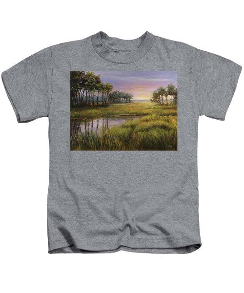 Florida Marsh Sunset Kids T-Shirt