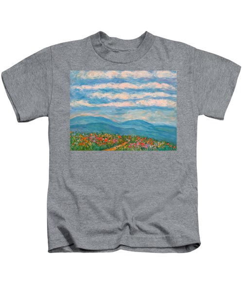 Flower Path To The Blue Ridge Kids T-Shirt