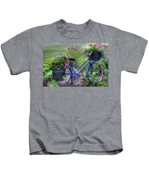 Flowered Bicycle Kids T-Shirt