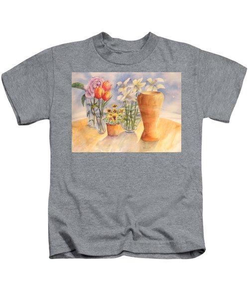 Flowers And Terra Cotta Kids T-Shirt