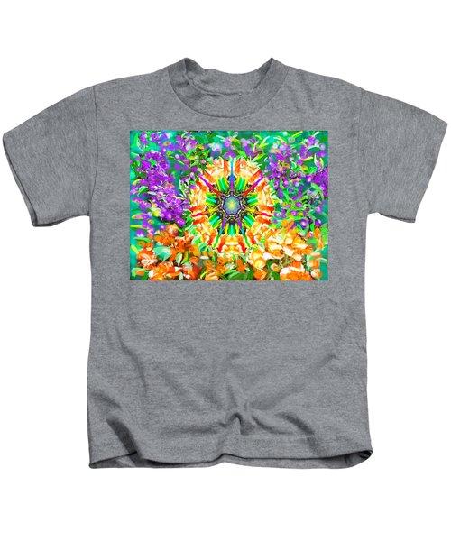 Flowers Mandala Kids T-Shirt