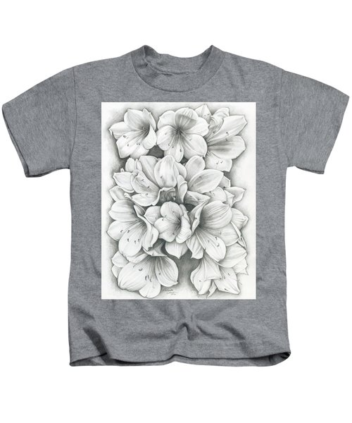 Clivia Flowers Pencil Kids T-Shirt