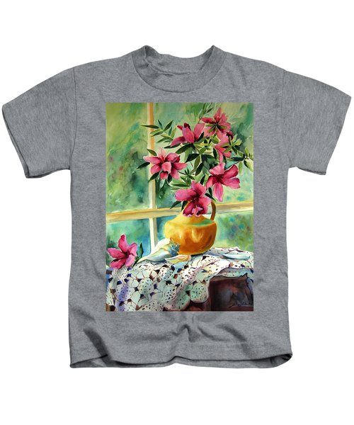 Flowers Shells And Lace Kids T-Shirt